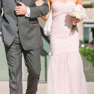 Worn once blush bridesmaid dress.